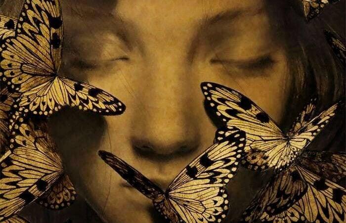 Visage-et-papillon