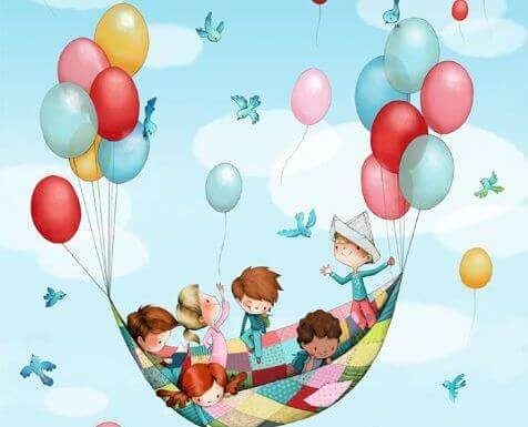 enfants-montgolfiere