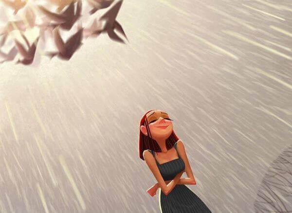 fille-attitude-positive-face-a-la-pluie