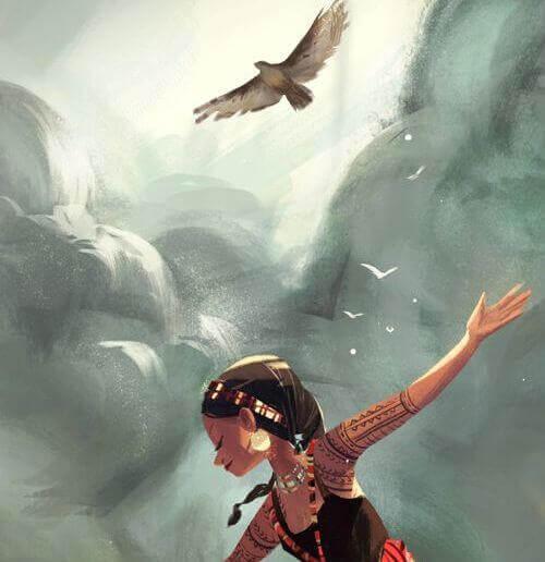 fille-avec-un-oiseau