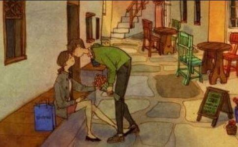 homme embrassant sa femme