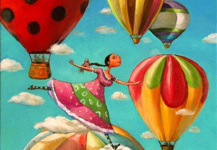 mujer-con-globos-actitud-positiva