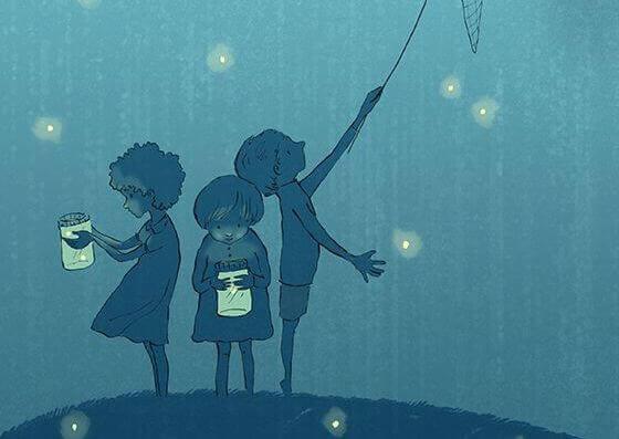 niños-cogiendo-luciérnagas