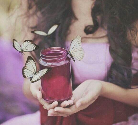 pot-en-verre-avec-des-papillons