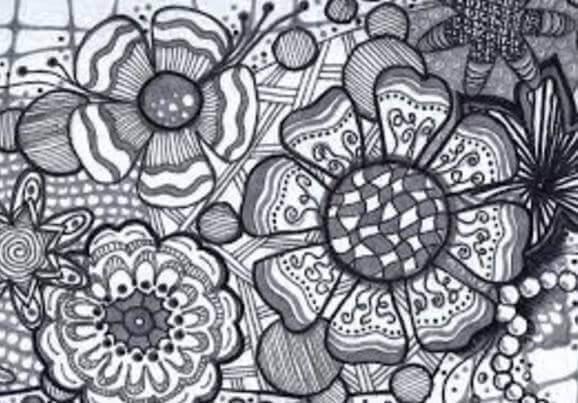 zentangle-de-flores