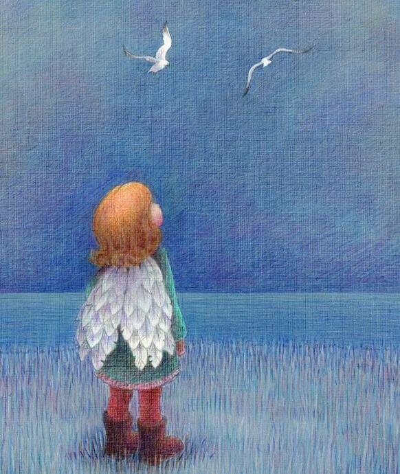Enfant-aile-regardant-le-ciel