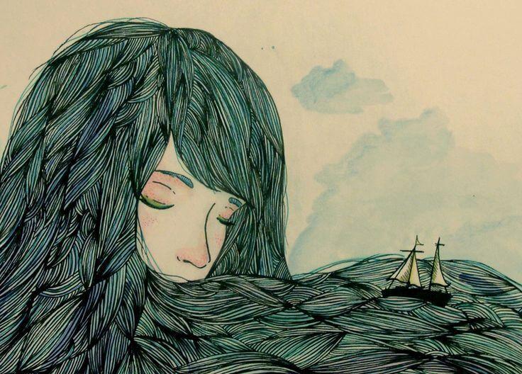 Femme-avec-bateau-dans-les-cheveux