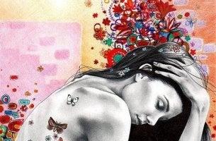 Femme-avec-papillons-dans-le-dos