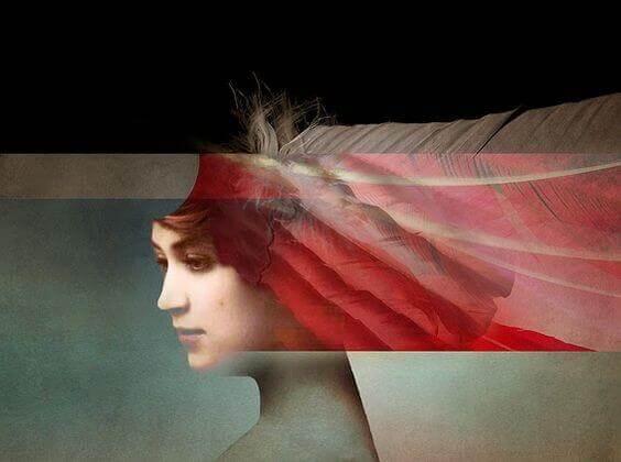 Femme-frange-rouge
