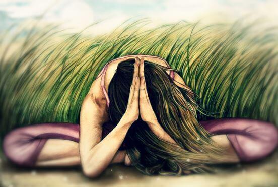 Femme-meditant