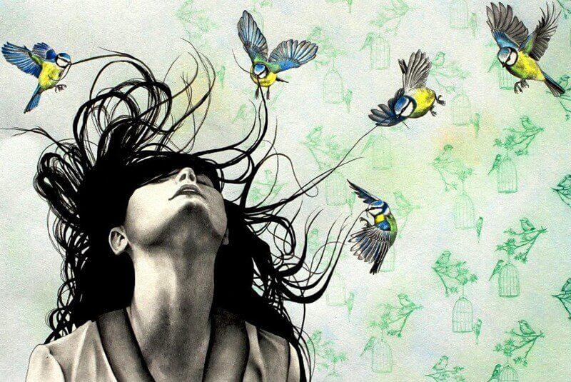 Femme-oiseaux-dans-les-cheveux