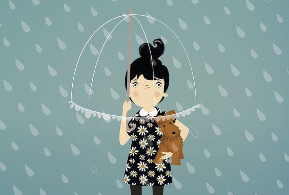 Fille-enervee-sous-la-pluie