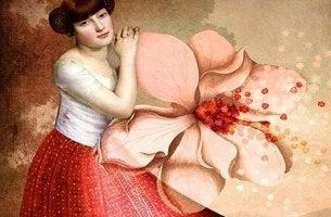femme-avec-une-fleur