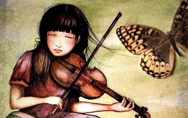 fille-jouant-du-violon-papillon