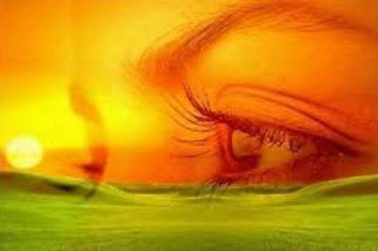 ojo-reflejo-naranja-verde