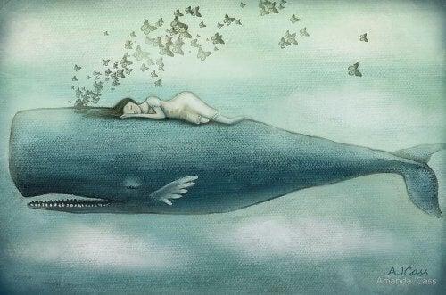 Nous pleurons parfois tellement que des baleines pourraient nager dans nos larmes