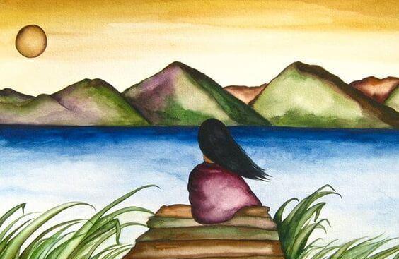 mujer-ante-un-lago-1