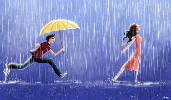 hombre-con-un-paraguas-corriendo-detras-de-su-chica