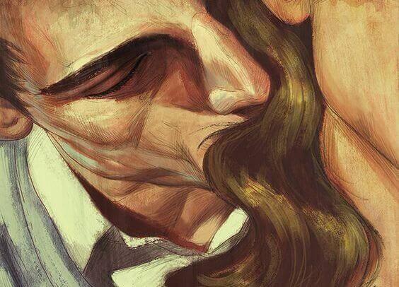 hombre-dando-beso-mujer