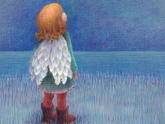 enfant-a-ailes-regardant-le-ciel