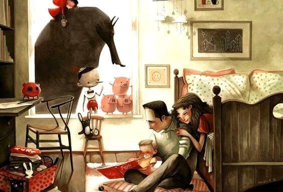 famille-a-la-maison