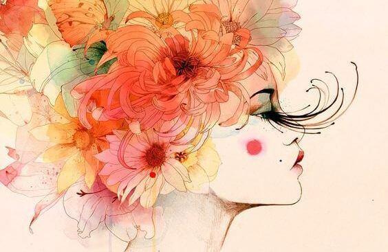 femme-cheveux-fleurs