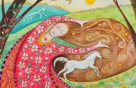 femme-et-cheval