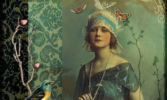 femme-et-papillons
