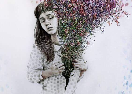 femme-fleurs-chemise