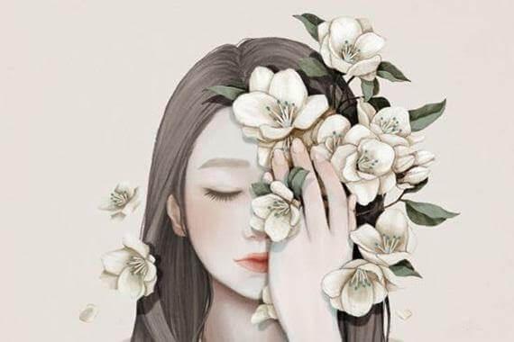 mujer-con-flores-en-medio-rostro