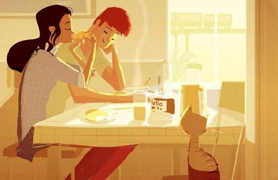 couple-petit-dejeunant