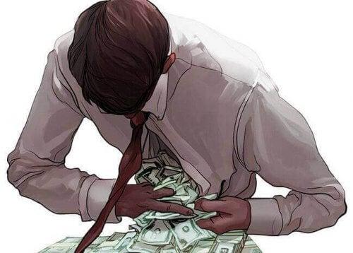 hombre-con-dinero-escapando-de-la-camisa