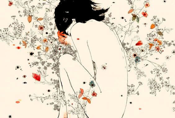 mujer-con-flores