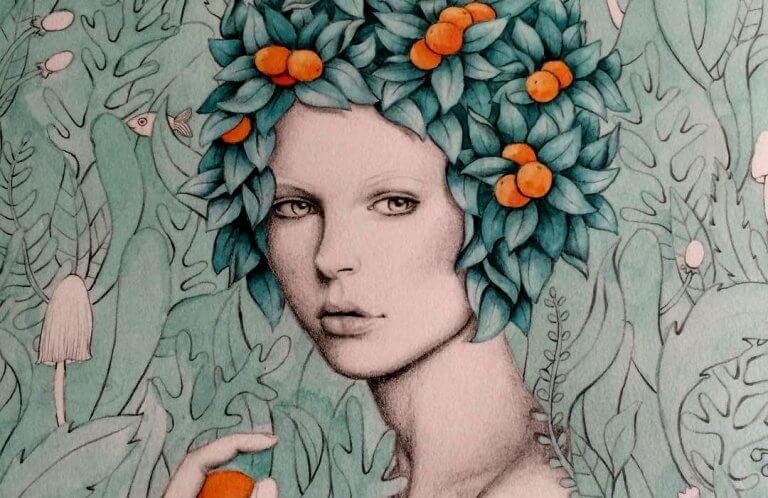 mujer-con-frutas-en-la-cabeza-768x498
