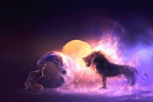 mujer-con-leon