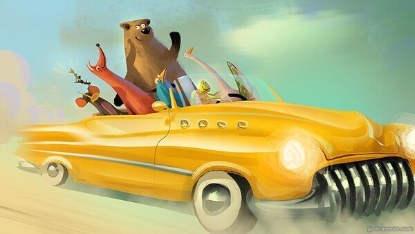 animales-en-un-coche