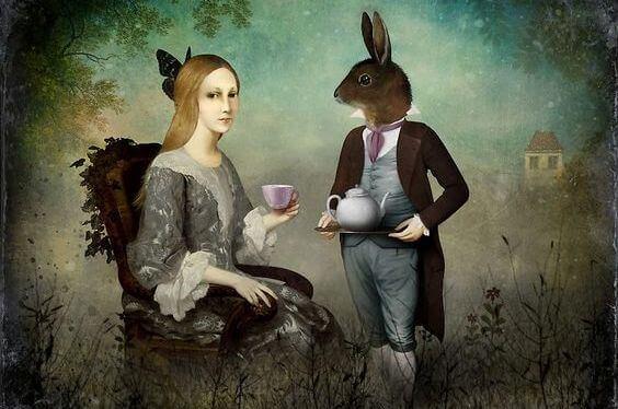 mujer-con-conejo-fantasia