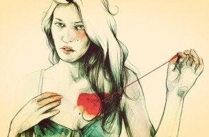 mujer-tocandose-el-corazon
