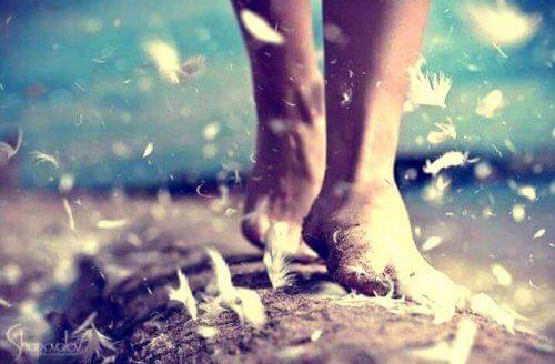 pies-caminando-sobre-plumas