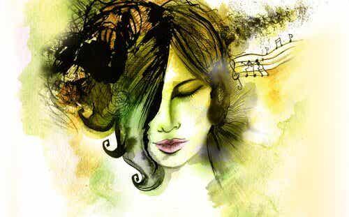 Elle a allumé la musique pour éteindre un moment de sa vie