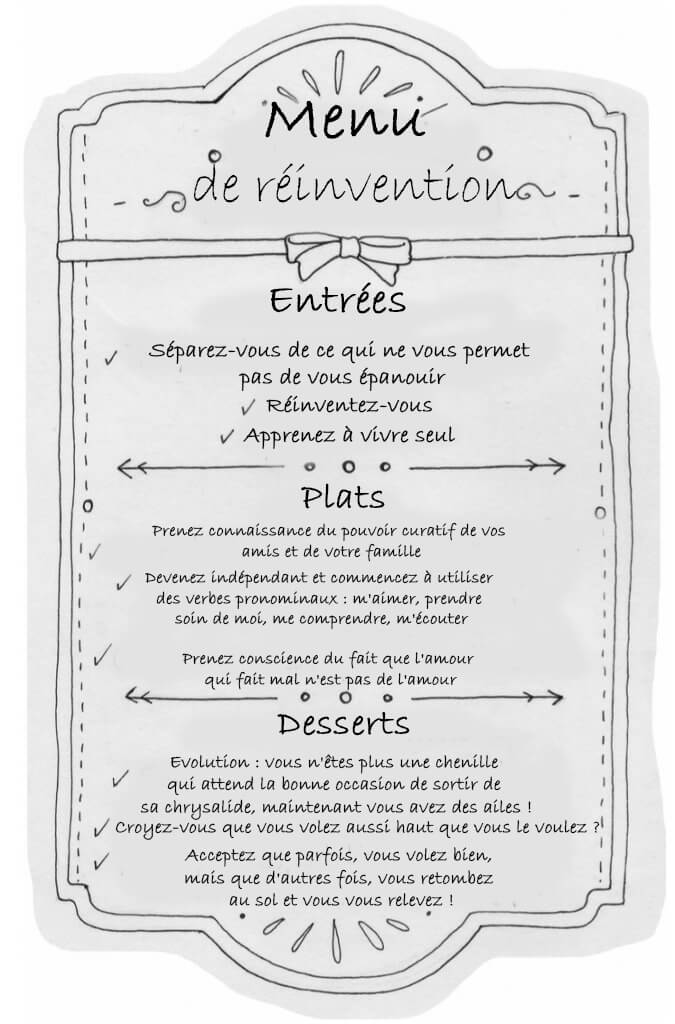menu de réinvention