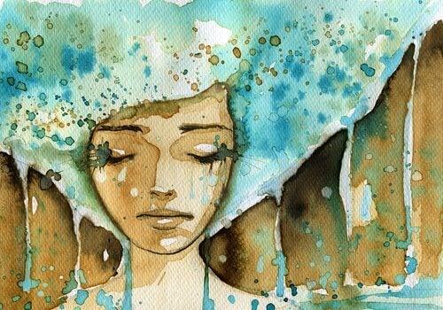 femme en larmes qui a perdu espoir