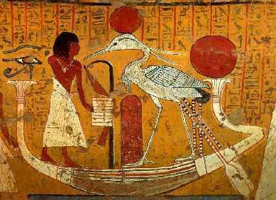 figure du Phoenix dans l'Egypte Ancienne