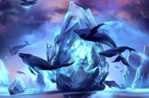 baleines et glace