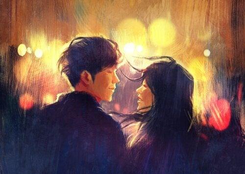 couple qui tisse des liens d'intimité