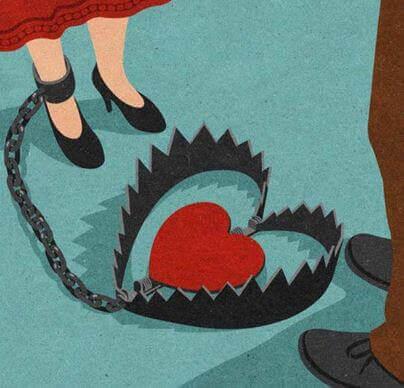 co-dépendance émotionnelle d'un coeur