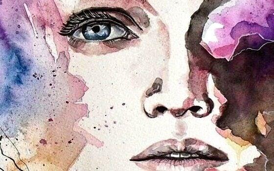 dessin de visage de femme