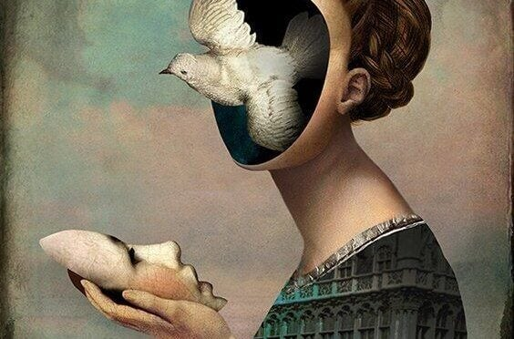 femme sans visage