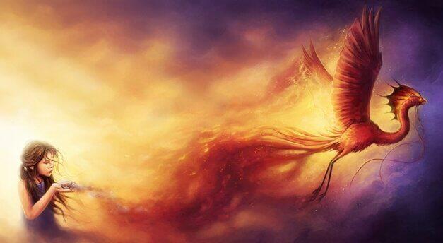fillette avec le Phoenix
