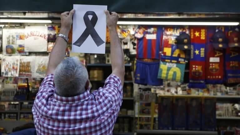 les gens bien victimes d'attentats terroristes à Barcelone